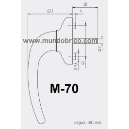 Manilla o cremona PVC M-70 Marrón