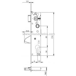 Cerradura TESA 4216-30 BE Palanca basculante