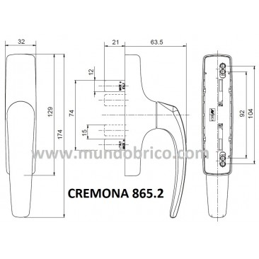 Cremona practicable 865.2 NEGRA de SAVIO-FINESTRA