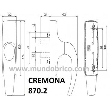 Cremona practicable 870.2 NEGRA de SAVIO-FINESTRA