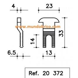 Enganche de Hoja SAN ANTONIO serie 6200