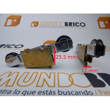 Rueda tándem metálica T1004/10E PABOSE