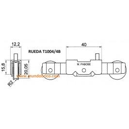 Rueda tándem metálica T1004 /4B PABOSE