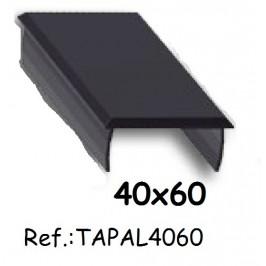 Tapa de aluminio para perfil 40x60 ALUMABE