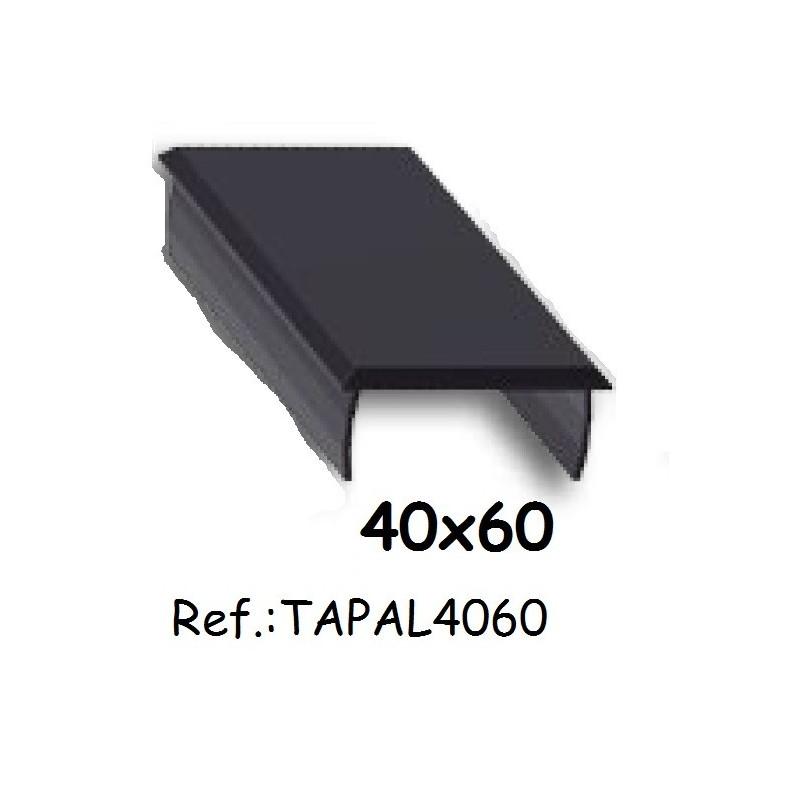 Tapa de aluminio de alumabe para perfiles de 40x60 para barandillas - Perfiles aluminio para pergolas ...