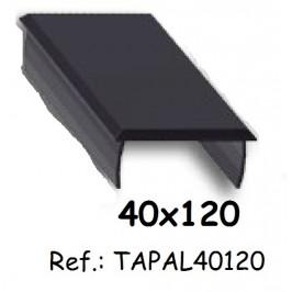 Tapa de aluminio para perfil 40x120 ALUMABE
