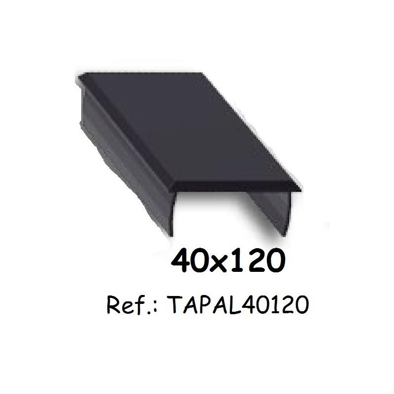 Tapa de aluminio de alumabe para perfiles de 40x120 para - Perfiles aluminio para pergolas ...