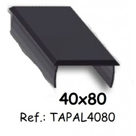 Tapa de aluminio para perfil 40x80 ALUMABE