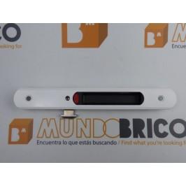 Cierre embutido 3020 (muelle) DERECHO Blanco serie europea